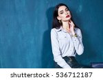 sexy beautiful woman dark...   Shutterstock . vector #536712187