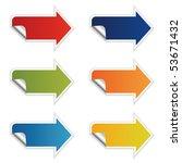 colored arrows vector | Shutterstock .eps vector #53671432