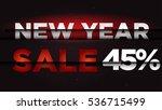 new year sale . big winter sale ... | Shutterstock .eps vector #536715499