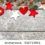 winter decoration. composition... | Shutterstock . vector #536715841