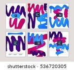grunge invitation set. vector... | Shutterstock .eps vector #536720305