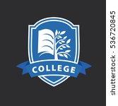vector logo college | Shutterstock .eps vector #536720845