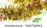 christmas tinsel | Shutterstock . vector #536726941