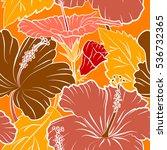 Vector Hibiscus Pattern....