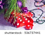 new year's gift  | Shutterstock . vector #536737441
