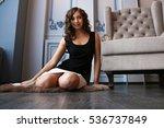beautiful woman in luxury... | Shutterstock . vector #536737849