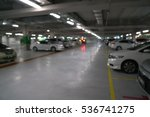 blurred car in parking | Shutterstock . vector #536741275