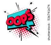 lettering oops  blame ... | Shutterstock .eps vector #536741674
