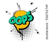 lettering oops  emotion  blame  ... | Shutterstock .eps vector #536741749