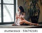 portrait of a beautiful girl.... | Shutterstock . vector #536742181