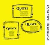set of vector scribble hand... | Shutterstock .eps vector #536750725