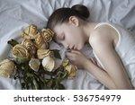 portrait of a beautiful girl ... | Shutterstock . vector #536754979
