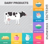poster with dairy products.... | Shutterstock .eps vector #536755345