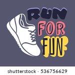 """text template for design """"run...   Shutterstock .eps vector #536756629"""