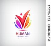 vector human logo  group of... | Shutterstock .eps vector #536761321