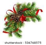 christmas arrangement with pine ... | Shutterstock . vector #536768575