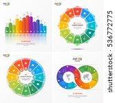 set of vector infographic 12... | Shutterstock .eps vector #536772775