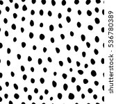 black and white hand drawn dots ... | Shutterstock .eps vector #536780389
