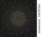 golden circular shape  creative ... | Shutterstock .eps vector #536787061