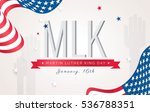 martin luther king day flyer ... | Shutterstock .eps vector #536788351