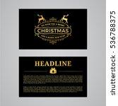 christmas greeting card design. ... | Shutterstock .eps vector #536788375