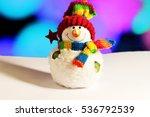 Bright Winter Snowman....
