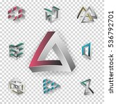 impossible shapes set.... | Shutterstock .eps vector #536792701