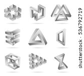 impossible shapes set. trendy... | Shutterstock .eps vector #536792719