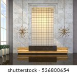 Interior With A Reception Desk...