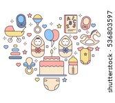 baby. line flat design...   Shutterstock .eps vector #536803597
