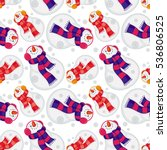 winter seamless pattern with... | Shutterstock .eps vector #536806525