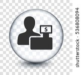 cashier and checkout on... | Shutterstock .eps vector #536808094