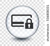 locked card on transparent... | Shutterstock .eps vector #536808331