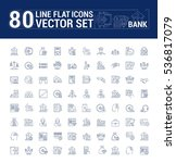 vector graphic set. icons in... | Shutterstock .eps vector #536817079