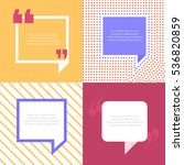 quote bubbles 3 types diverse.... | Shutterstock .eps vector #536820859