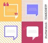 quote bubbles 3 types diverse.... | Shutterstock .eps vector #536820859