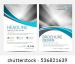brochure template flyer... | Shutterstock .eps vector #536821639