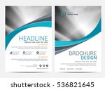 brochure template flyer... | Shutterstock .eps vector #536821645