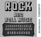 script font typeface rock and...   Shutterstock .eps vector #536838439