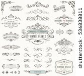 ornate vintage design elements... | Shutterstock .eps vector #536838811
