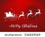 vector illustration of santa... | Shutterstock .eps vector #536839069