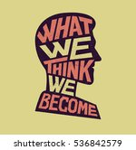 inspiration lettering. what we... | Shutterstock .eps vector #536842579
