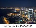 aerial night shot of beirut...   Shutterstock . vector #536843185