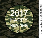 2017 happy new year card in... | Shutterstock .eps vector #536843335