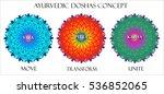 ayurvedic doshas icons. vata ... | Shutterstock . vector #536852065