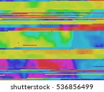colorful glitched background in ... | Shutterstock .eps vector #536856499