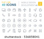 set  line icons  and...