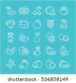 set  line icons in flat design... | Shutterstock . vector #536858149
