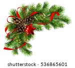 christmas arrangement with pine ... | Shutterstock . vector #536865601