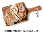 Freshly Baked Bread On Wooden...